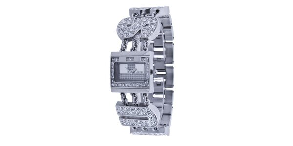 Dámské stříbrné náramkové hodinky Guess