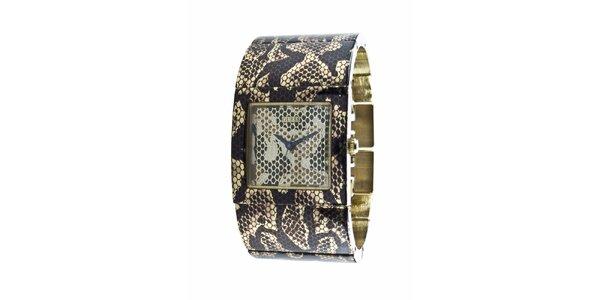 Dámské hodinky Guess s hadím vzorem