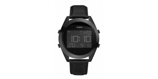 Pánské černé digitální hodinky Guess