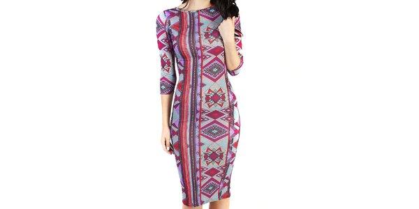 Dámské pestrobarevné šaty s aztéckým vzorem Pepper Tree