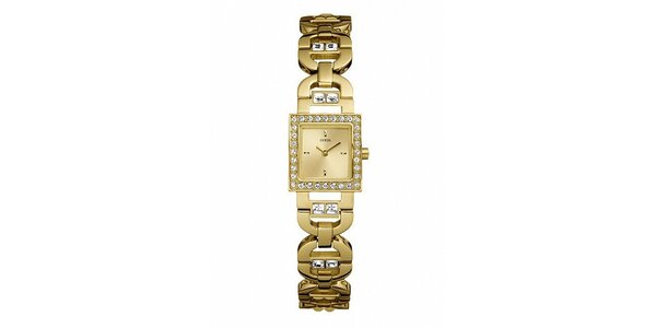 Pozlacené dámské hodinky Guess