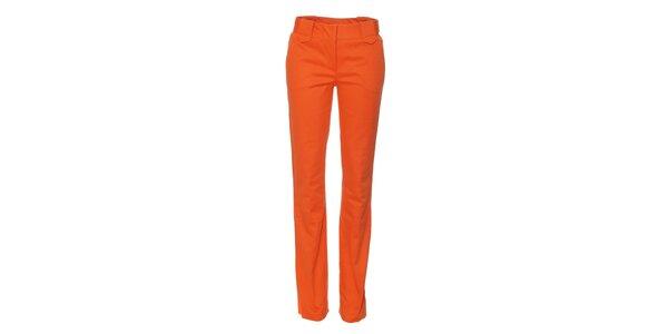 Mandarinkové dámské kalhoty Naf Naf