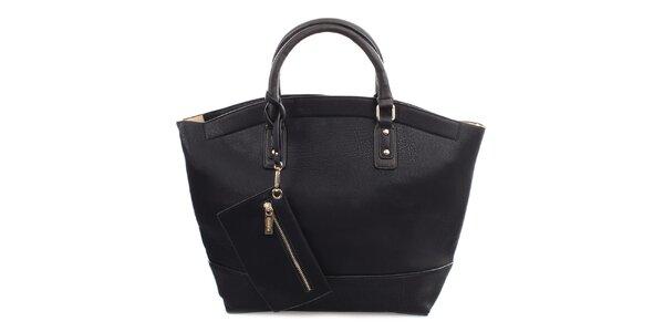 Dámská černá kabelka se zapínáním na zip Bessie