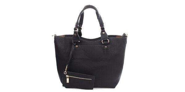 Dámská černá kabelka s malou kapsičkou Bessie