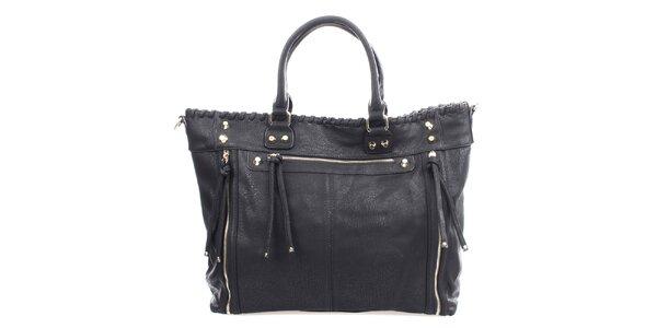 Dámská černá kabelka se zipy Bessie