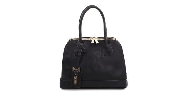 Dámská černá kabelka se dvěma zipy Bessie