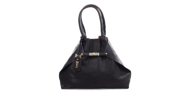 Dámská černá kabelka se stříbrným zámečkem Bessie
