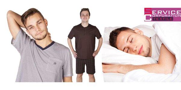 Pánská bavlněná pyžama několika vzorů