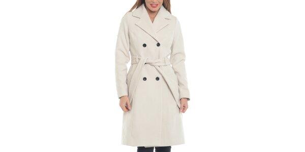 Dámský krémově bílý vlněný kabát Vera Ravenna