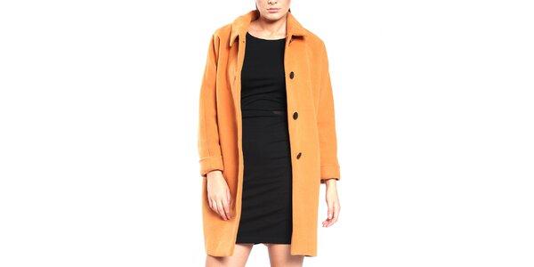 Dámský broskvový retro kabát Vera Ravenna