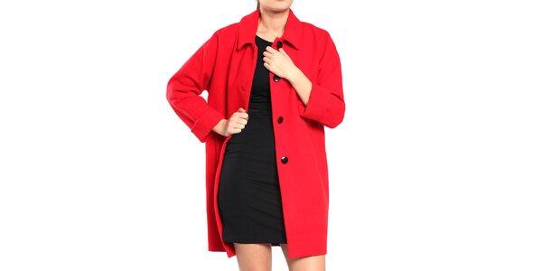 Dámský rudý retro kabát Vera Ravenna