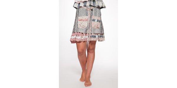Dámská modrorůžová vrstvená sukně Ian Mosh