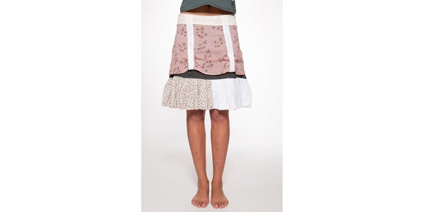 Dámská růžovobílá vrstvená sukně Ian Mosh