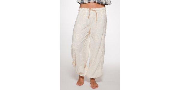 Bílé volné kalhoty Ian Mosh