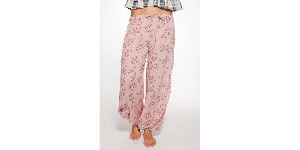 Světle růžové volné kalhoty Ian Mosh