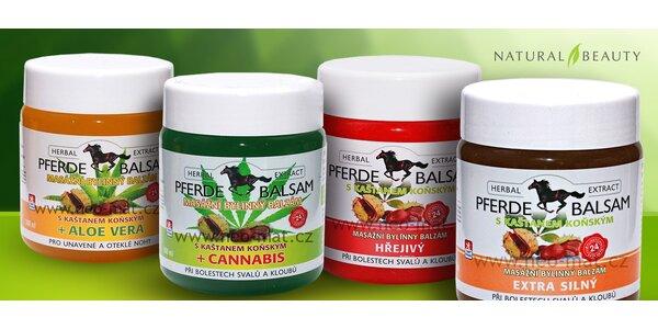 Nabitý balíček 4 koňských balzámů s cannabis i aloe vera