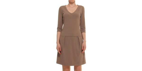 Dámské hnědé šaty Yuliya Babich