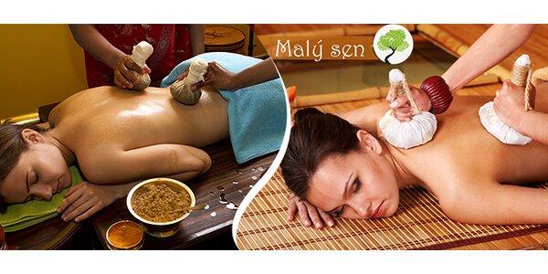 Tradiční tibetská masáž (60 min) v salonu Malý sen
