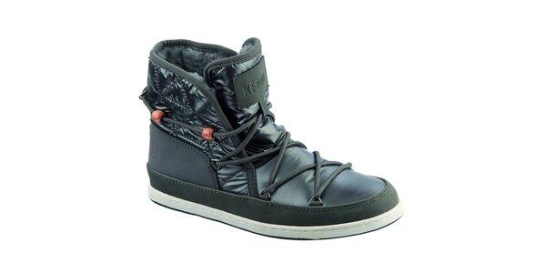 Dámské boty s kožíškem a korálky Keddo