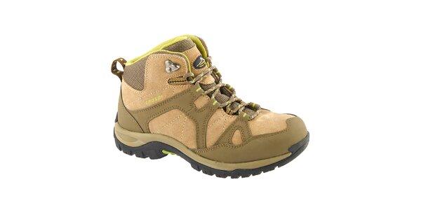 Dámské béžovo-zelené kotníkové boty Crosby