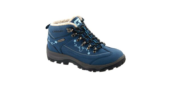 Dámské modré kotníkové boty s potiskem Crosby