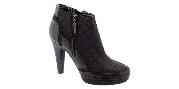 4ee8d2e5474 Dámské černé prošívané kotníčkové boty Betsy