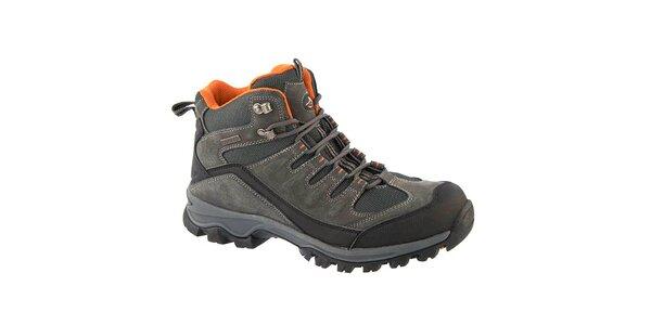 Pánské šedé outdoorové boty Crosby