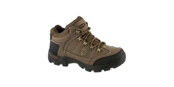 Pánské hnědé outdoorové boty Crosby