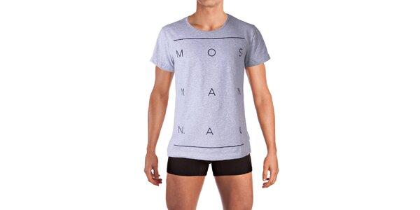 Pánské šedé tričko Mosmann