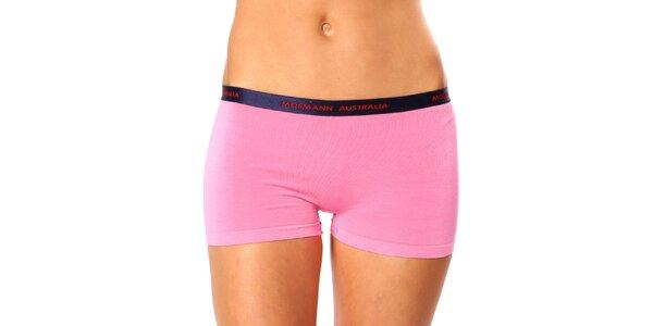 Dámské růžové kalhotky s nohavičkou Mosmann