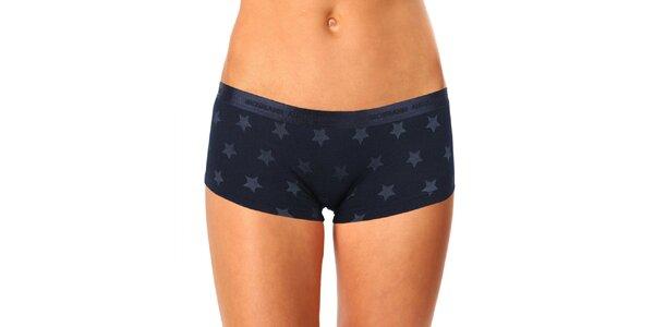 Dámské černé hvězdičkové kalhotky s nohavičkou Mosmann