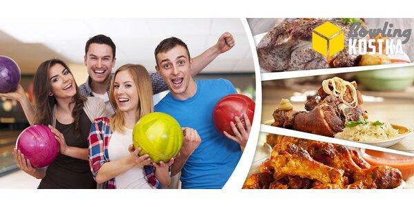 Hodina bowlingu a pořádné jídlo v Bowling Kostka