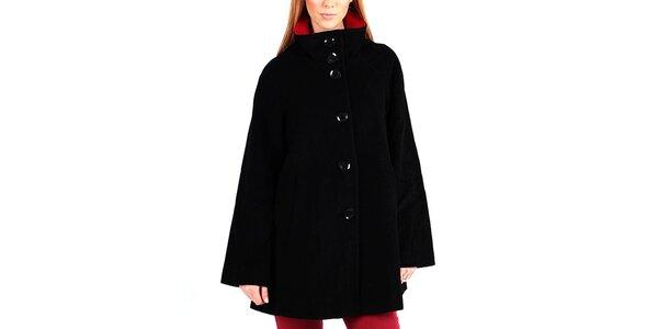 Dámský černý kabát na knoflíky Gémo