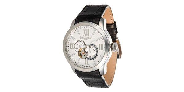 Pánské ocelové hodinky se světlým ciferníkem Lancaster