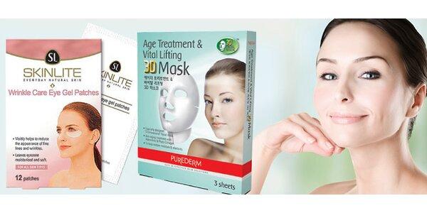 Liftingová 3D maska nebo vyhlazení očních vrásek