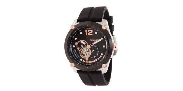 Pánské sportovní hodinky s bronzovými detaily Lancaster