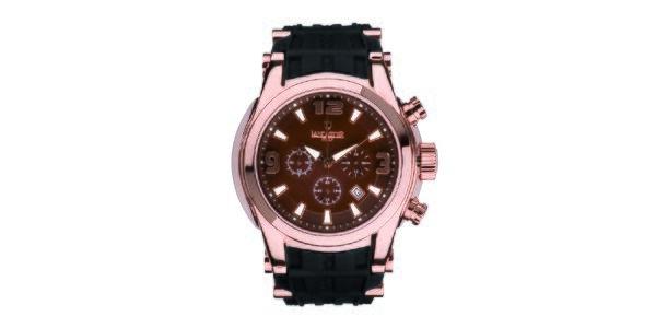 Pánské hodinky s růžově zlatým pouzdrem Lancaster