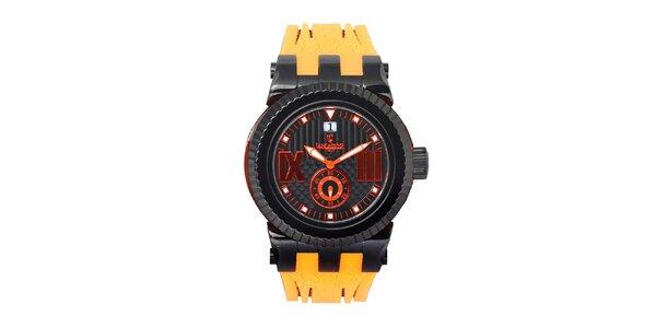 Pánské žluto-černé hodinky Lancaster