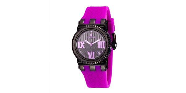 Dámské hodinky s fialovým náramkem Lancaster