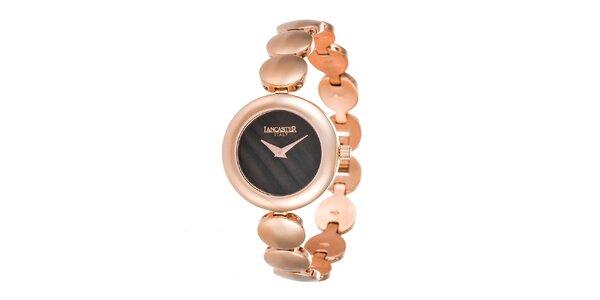 Dámské minimalistické hodinky s tmavým ciferníkem Lancaster