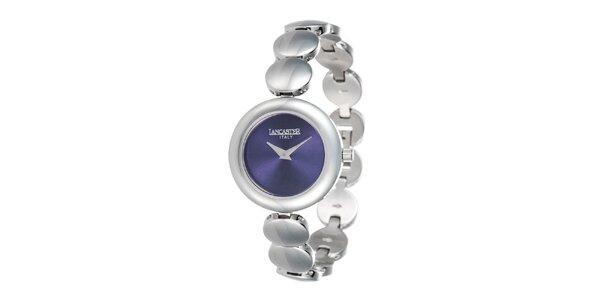 Dámské minimalistické hodinky s modrým ciferníkem Lancaster