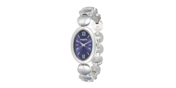 Dámské stříbrné hodinky s oválným pouzdrem Lancaster