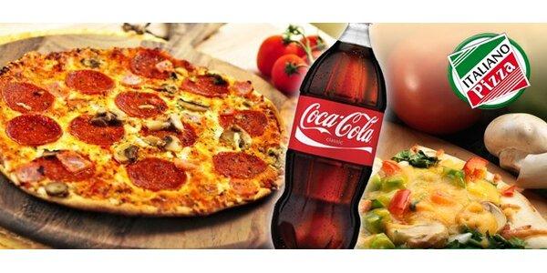 199 Kč za DVĚ megapizzy, 2 litry coca-coly a dovoz až domů.