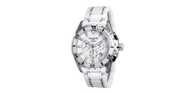 Pánské bílé keramické hodinky Lancaster aee46688af