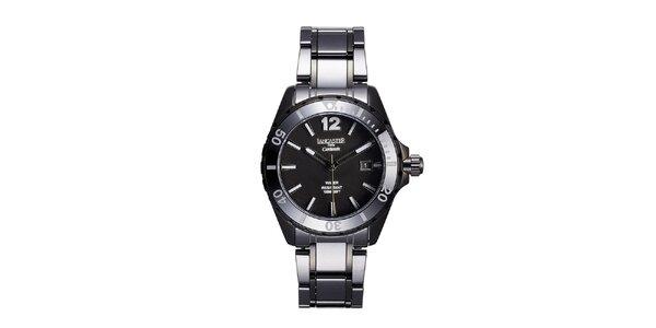Dámské černé keramické hodinky s datumovkou Lancaster