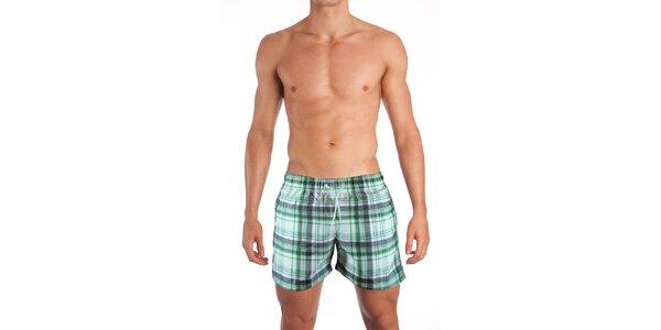 Zelené plavky Mosmann se vzorem