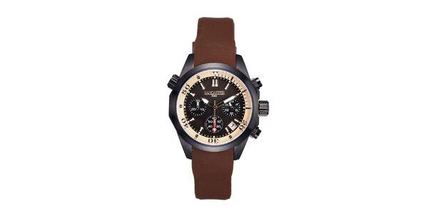 Dámské hnědo-černé hodinky s chronografem Lancaster