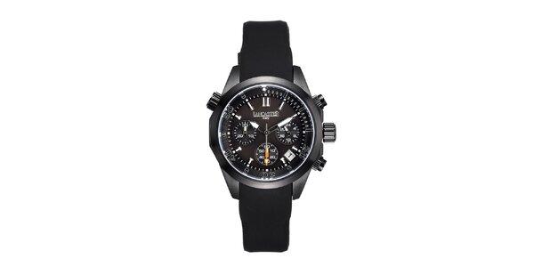Dámské černé hodinky s chronografem Lancaster