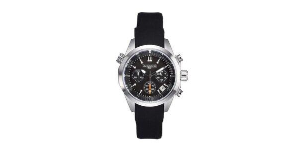 Dámské stříbrno-černé hodinky s chronografem Lancaster