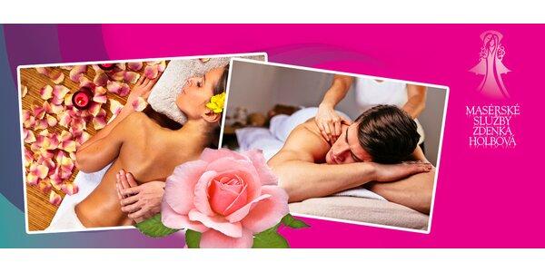 Růžová omlazující masáž a zábal
